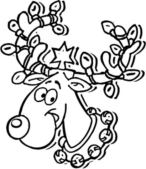 Reindeer Face Coloring Pages 27
