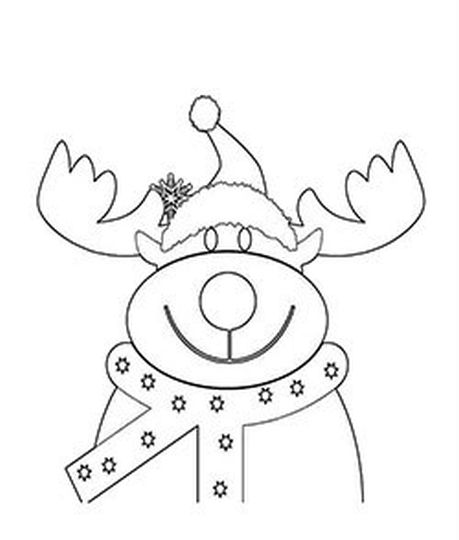Reindeer Face Coloring Pages 32