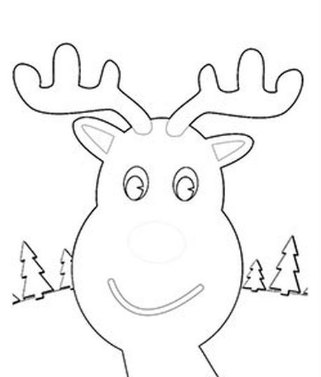 Reindeer Face Coloring Pages 33