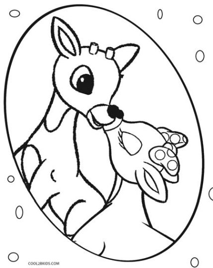Reindeer Face Coloring Pages 34