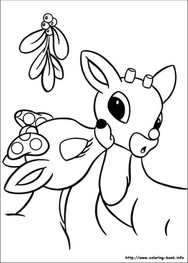 Reindeer Face Coloring Pages 38