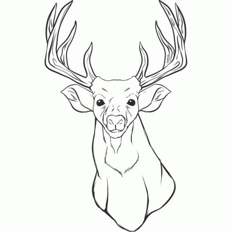Reindeer Face Coloring Pages 5