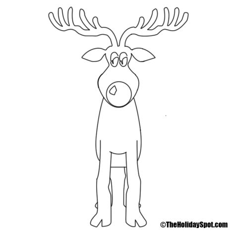 Reindeer Face Coloring Pages 6