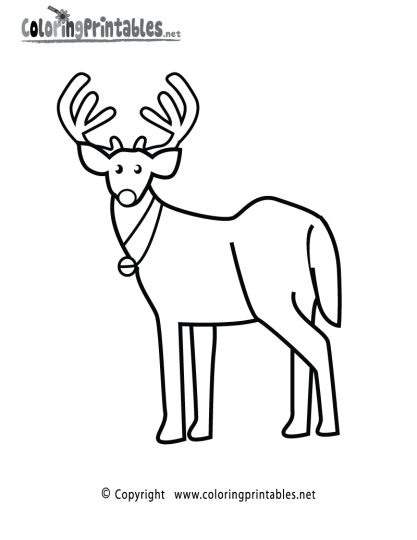 Reindeer Face Coloring Pages 7