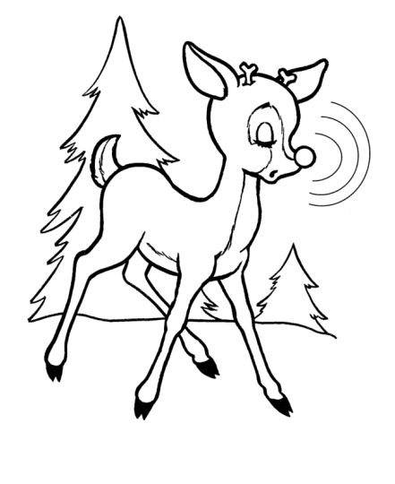 Reindeer Face Coloring Pages 8