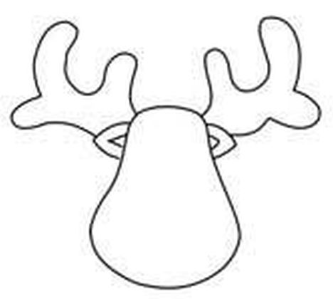 Reindeer Face Coloring Pages 9