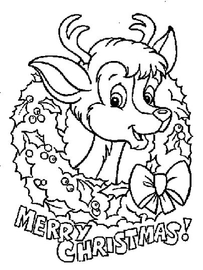 Santa And Reindeer Coloring Pages 27
