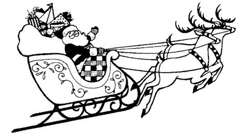 Santa And Reindeer Coloring Pages 30
