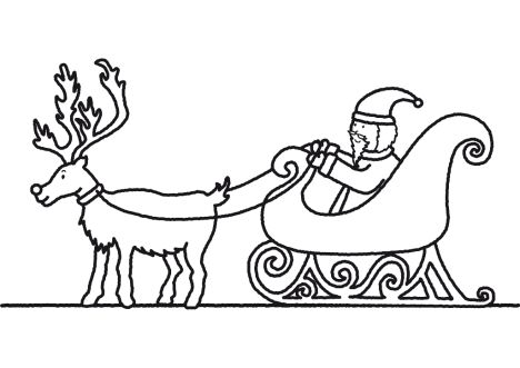 Santa And Reindeer Coloring Pages 35