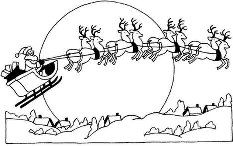 Santa And Reindeer Coloring Pages 46