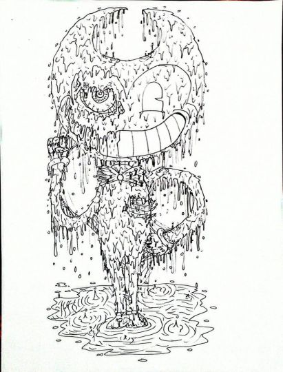 Bendy And The Ink Machine Coloring Pages 15