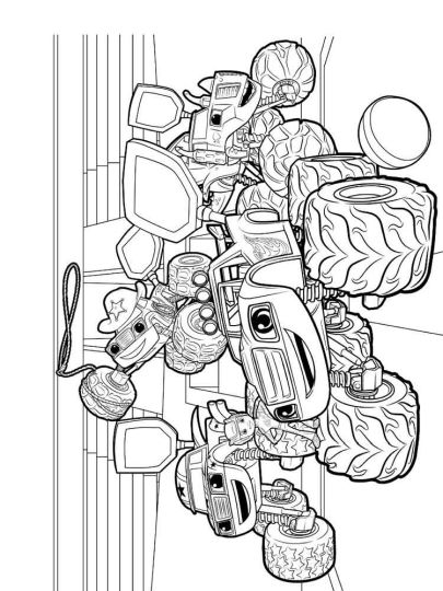 Blaze And The Monster Machines Coloring Pages 11
