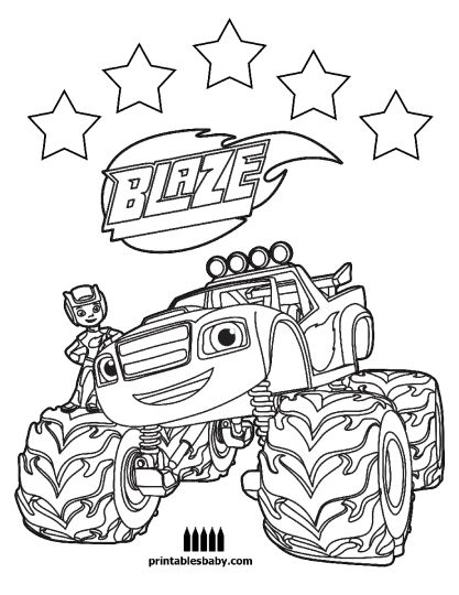 Blaze And The Monster Machines Coloring Pages 14