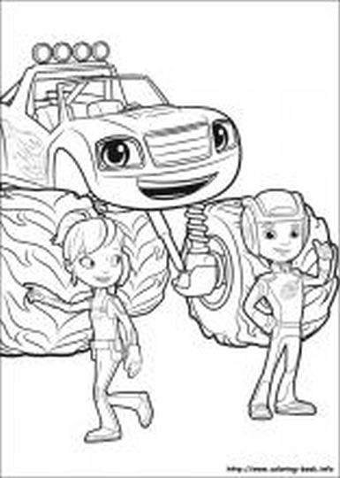 Blaze And The Monster Machines Coloring Pages 15