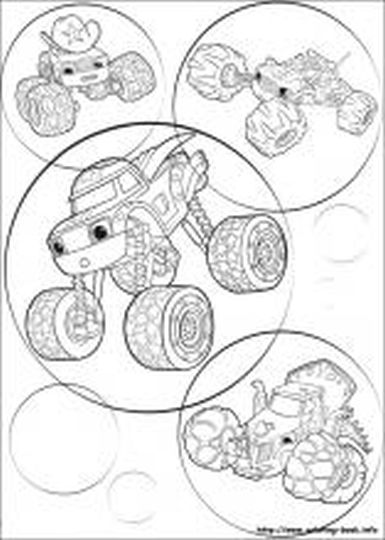 Blaze And The Monster Machines Coloring Pages 16