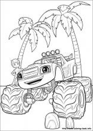 Blaze And The Monster Machines Coloring Pages 17