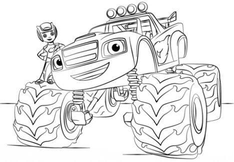 Blaze And The Monster Machines Coloring Pages 18