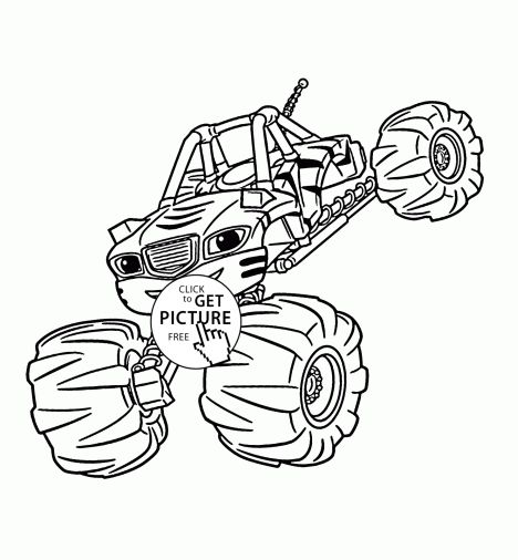 Blaze And The Monster Machines Coloring Pages 20