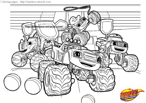 Blaze And The Monster Machines Coloring Pages 22