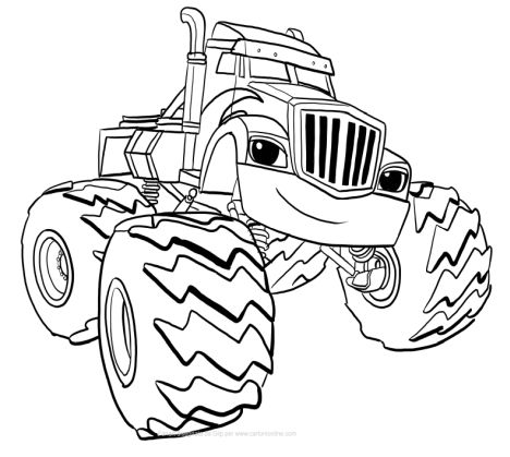 Blaze And The Monster Machines Coloring Pages 24