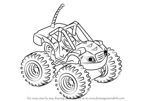 Blaze And The Monster Machines Coloring Pages Part 3
