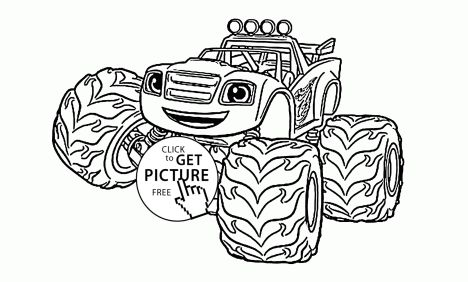 Blaze And The Monster Machines Coloring Pages 27
