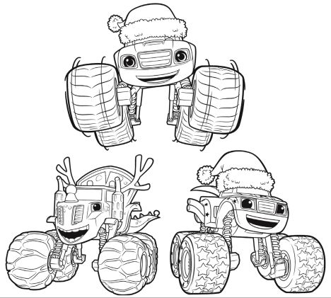 Blaze And The Monster Machines Coloring Pages 28
