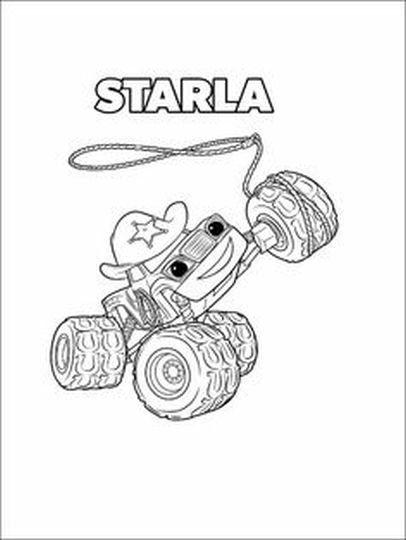Blaze And The Monster Machines Coloring Pages 3