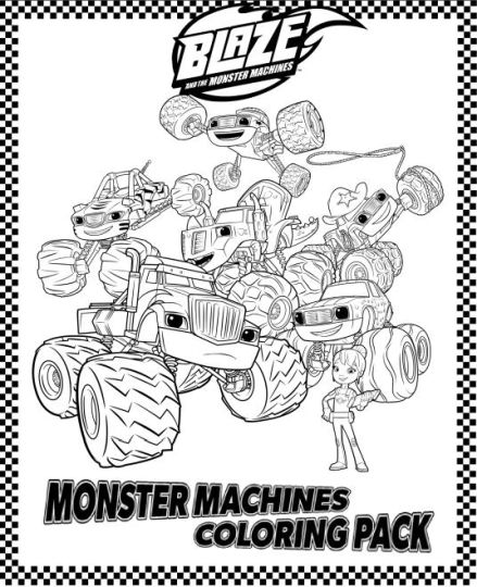Blaze And The Monster Machines Coloring Pages 30