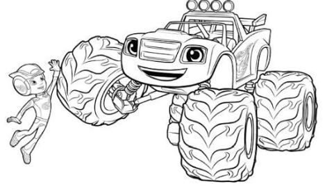 Blaze And The Monster Machines Coloring Pages 34