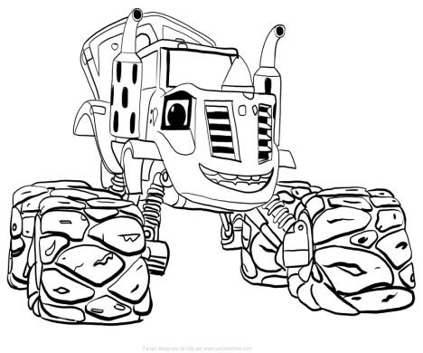 Blaze And The Monster Machines Coloring Pages 35