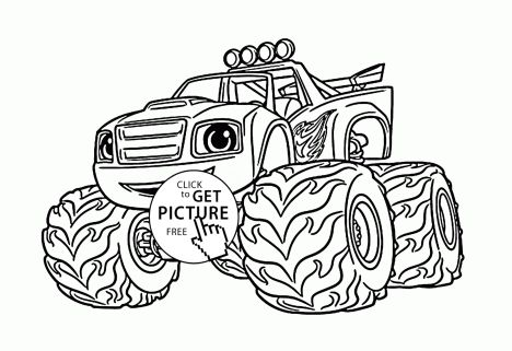 Blaze And The Monster Machines Coloring Pages 37
