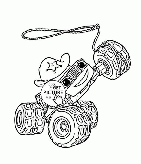 Blaze And The Monster Machines Coloring Pages 4