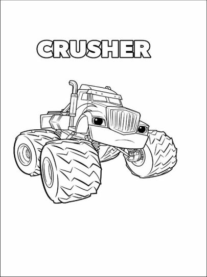 Blaze And The Monster Machines Coloring Pages 40