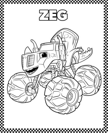Blaze And The Monster Machines Coloring Pages 8