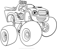 Blaze And The Monster Machines Coloring Pages 9
