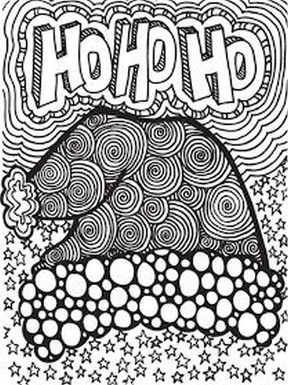 Christmas Doodle Coloring Pages 11
