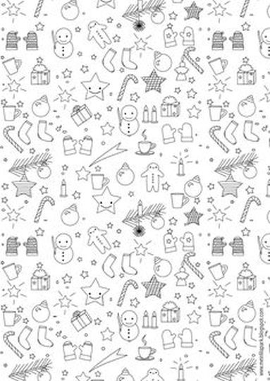 Christmas Doodle Coloring Pages 12