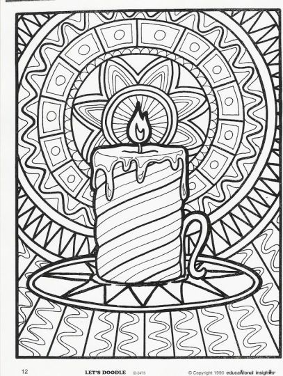 Christmas Doodle Coloring Pages 13