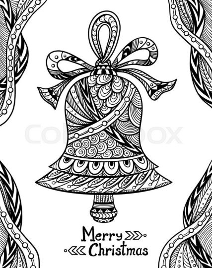 Christmas Doodle Coloring Pages 16