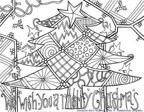 Christmas Doodle Coloring Pages 17
