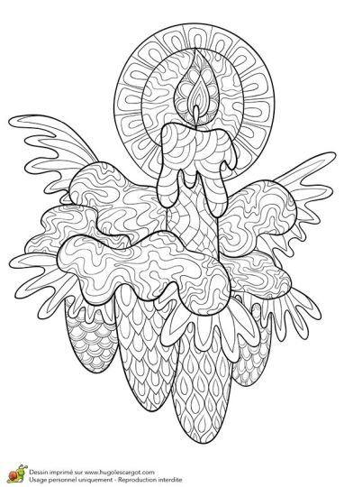 Christmas Doodle Coloring Pages 18