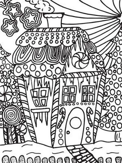 Christmas Doodle Coloring Pages 19
