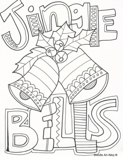 Christmas Doodle Coloring Pages 20