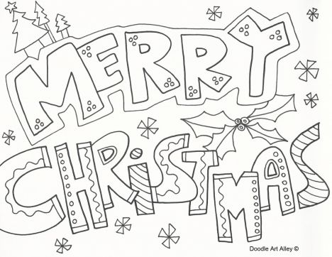 Christmas Doodle Coloring Pages 21