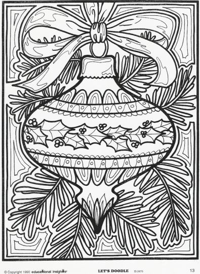 Christmas Doodle Coloring Pages 22