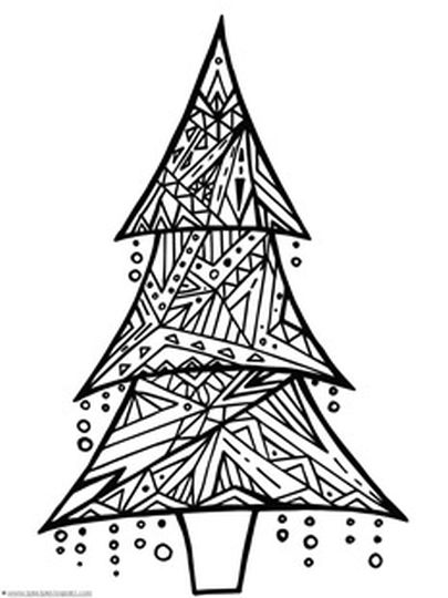 Christmas Doodle Coloring Pages 23