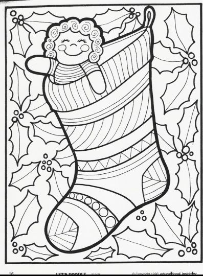 Christmas Doodle Coloring Pages 24