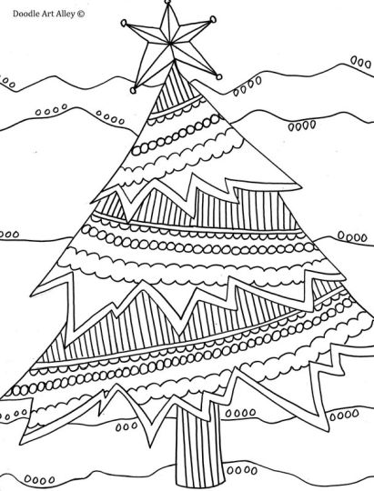 Christmas Doodle Coloring Pages 25