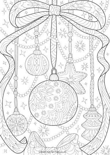 Christmas Doodle Coloring Pages 26
